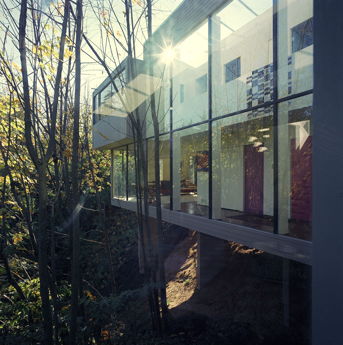 Oberlander Residence II, Vancouver Peter Oberlander and Barry Downs, Architects, 1969 Photograph by Selwyn Pullan, 1970 Courtesy of West Vancouver Museum.