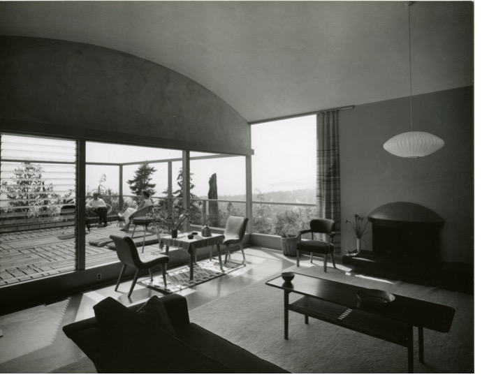 Interior of the Gerson House, 1958. Photo courtesy of the Gerson family
