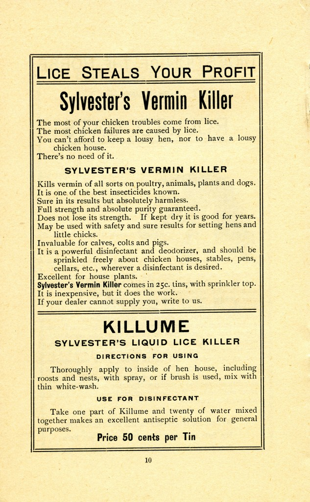 A page from the Sylvester Feed Co. catalogue (A.2012.002.004.page 12)