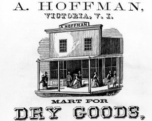 Advertisement for Abraham Hoffman's store (L.00434).