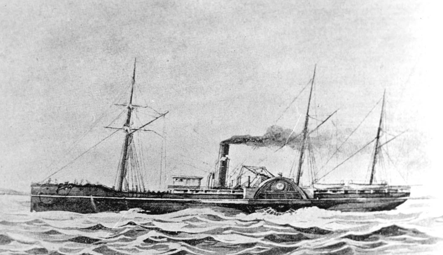 SS Pacific, July 1858, brought 1,200 passengers from San Francisco to Victoria