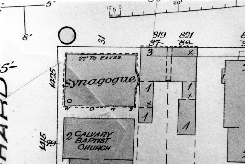 Site plan of synagogue (L.00582).