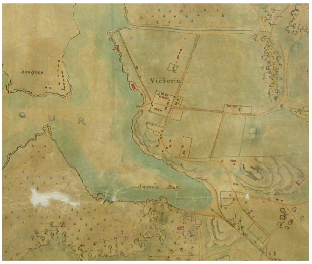 Map of Victoria and Puget Sound Districts 1851, Sheet No. 1 Victoria to Oak Bay, Joseph D. Pemberton (Hudson's Bay Company Archives, Map 312A, G1/133)