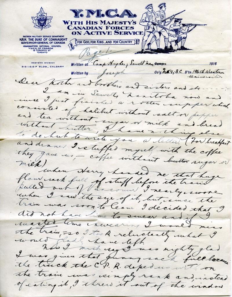 Letter B - July 1916