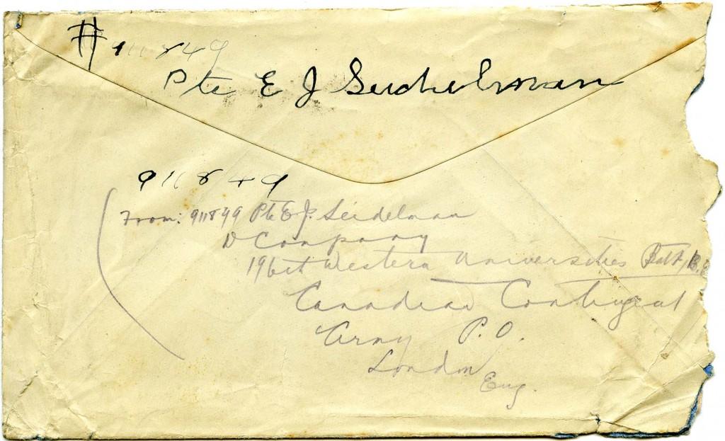 Letter H - Envelope Back