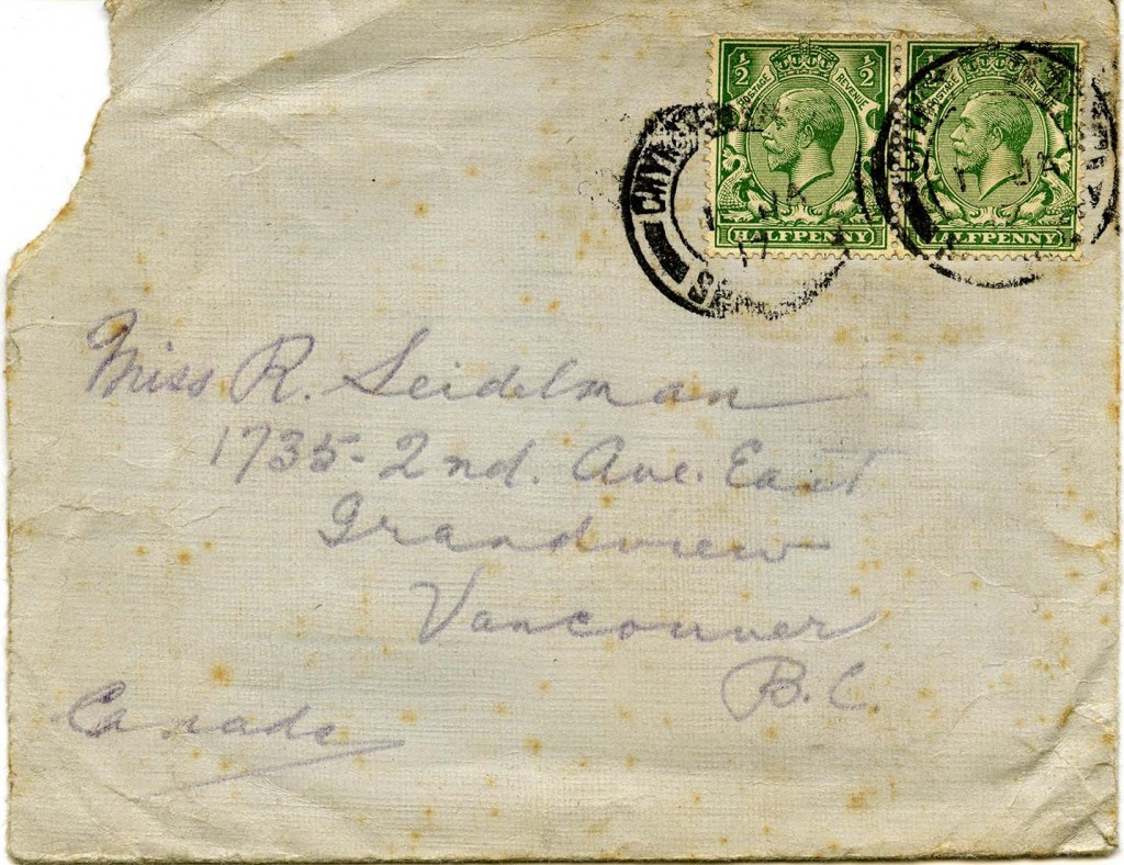 Letter I - Envelope