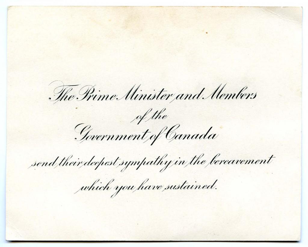 Letter S - Cnd Prime Minister