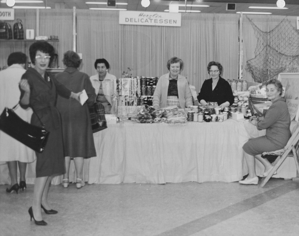 The Deli Booth at the Hadassah Bazaar, circa 1960.