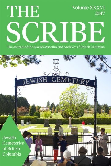 The Scribe Volume 36: Jewish Cemeteries of British Columbia